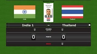 Snooker Team Masters Final : India 1 vs Thailand