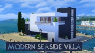 Sims 4 | House Building | Modern Seaside Villa