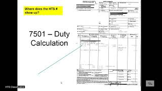 HTS Classification Part I