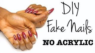 $20 FAKE NAILS AT HOME WITHOUT ACRYLIC | Chinyere Ibelegbu