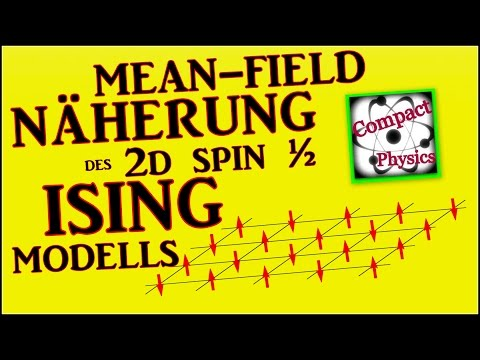 Mean-Field Näherung des 2D Spin ½ Ising Modells [Compact Physics]