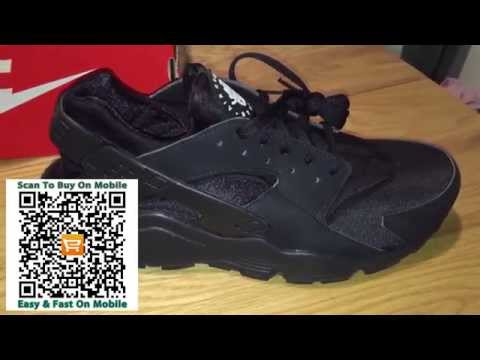 d1eb0ca57624 Triple Black Nike Air Huarache On Feet Trainers Review Aliexpress - YouTube