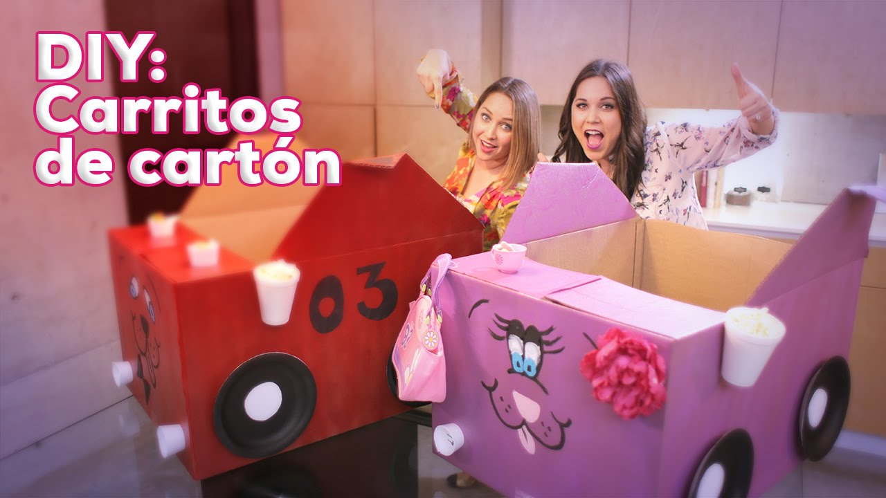 DIY - Cómo hacer un Carrito de Cartón: Especial Día del Niño - YouTube