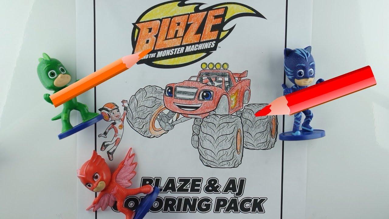 Colorindo Blaze And Blaze And The Monster Machines Com Pj Masks