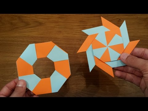 How To Make A Paper Transforming Ninja Star - Origami - YouTube