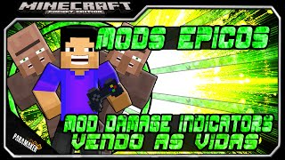 Mod Damage indicators para Minecrat Pocket Edition 0.10.4│Vendo as vidas