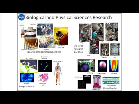 Life and Physical Sciences Research at NASA, National Academies of Science, April 19, 2017