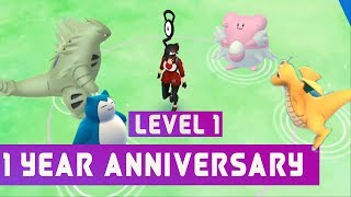Pokemon go Level 1 player after starter! Whose rare pokemon to catch!