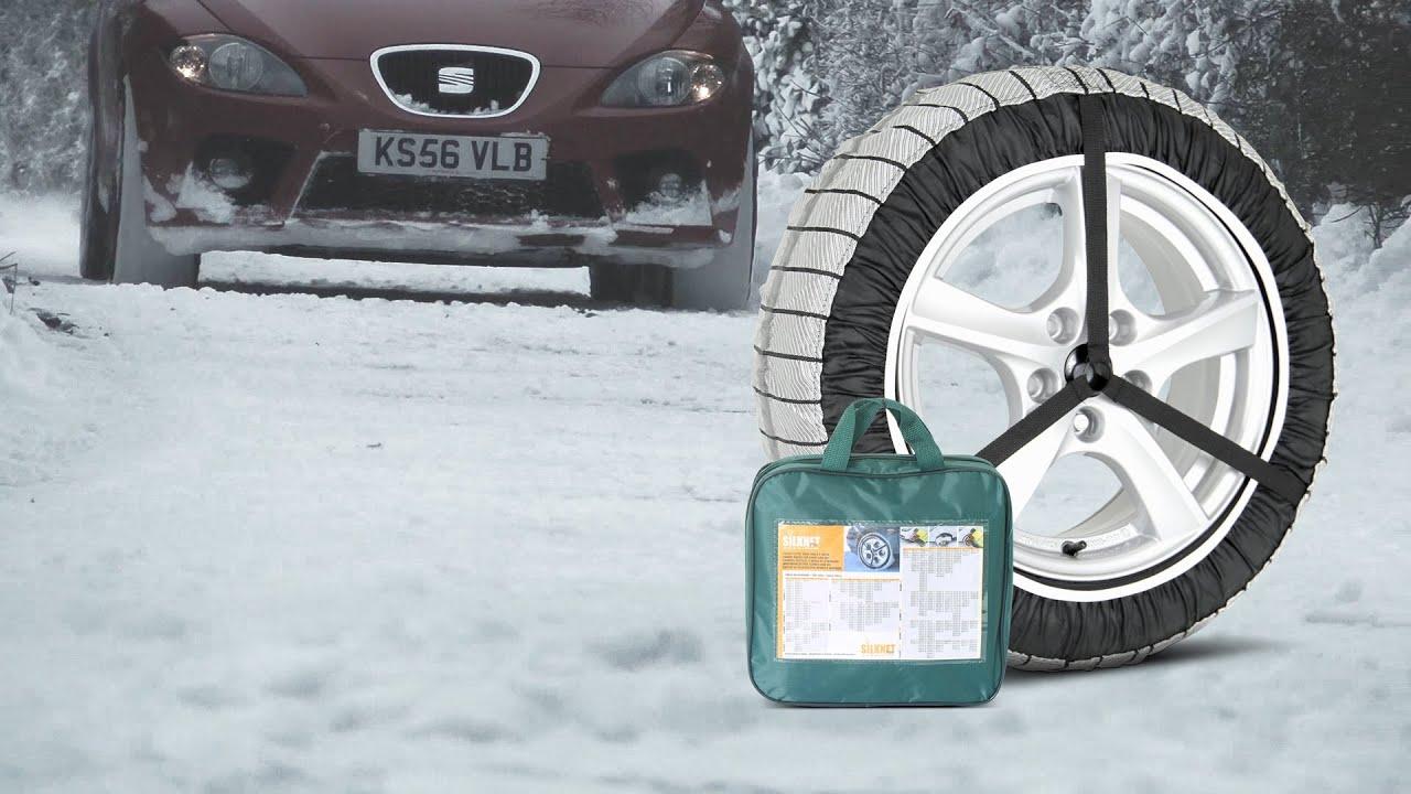 Silknet 80 Car Snow Socks 275//40 R18 275 40 18 Tyre Free Delivery