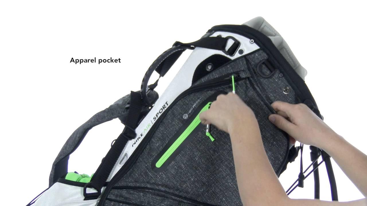 Nike Air Sport III Stand Bag - YouTube 39b10571672