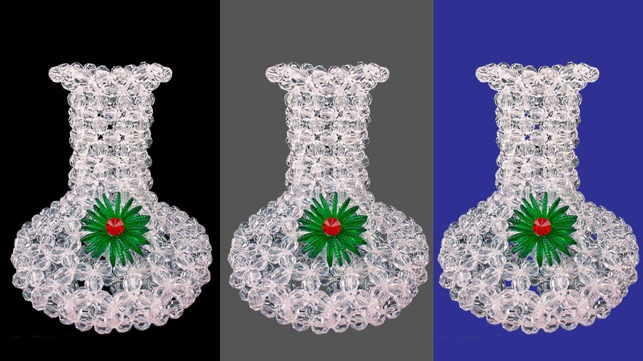Download How To Make Flower Vase | Beaded Flower Vase | Flower Pot | Pearl flower Pot | Putir Fuldani | P - 1