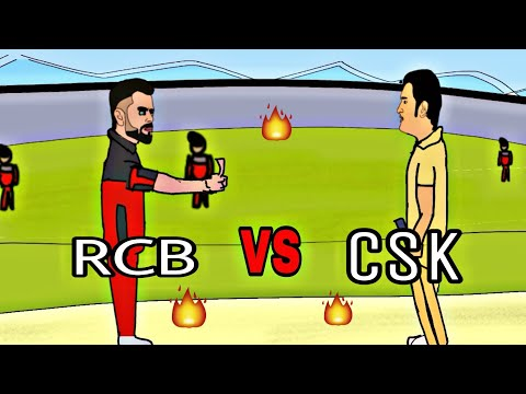 RCB VS CSK | in 2d Animation |dhoni vs kholi |comedy ipl| by animated vines of mk