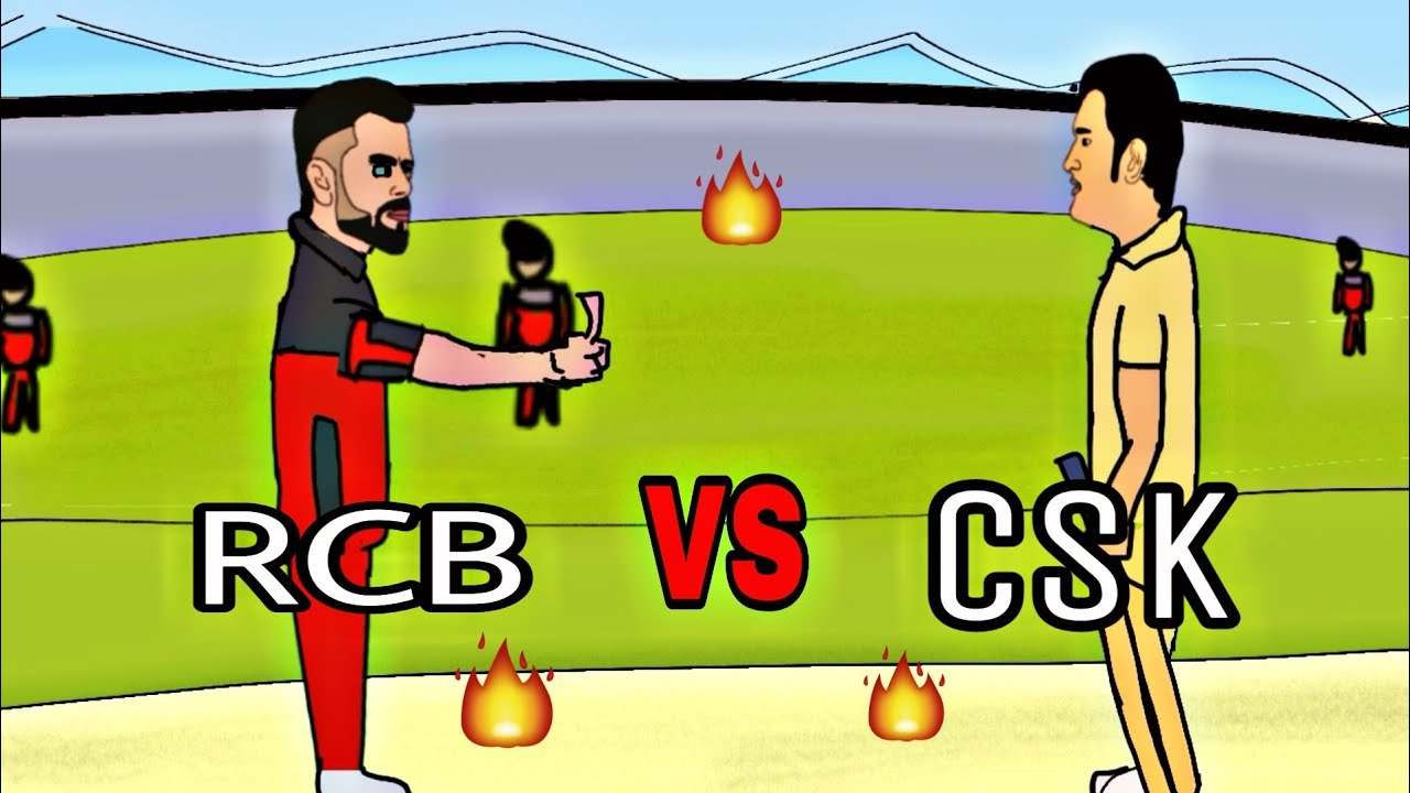 Rcb Vs Csk In 2d Animation Dhoni Vs Kholi Comedy Ipl By Animated Vines Of Mk Youtube
