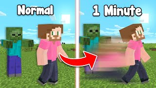 Minecraft survival But Every Minute Your Speed Multiplies!