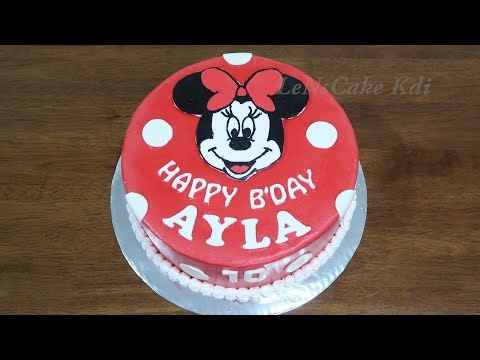 Kue Ulang Tahun Anak 👧 Dekorasi Kue Ultah Karakter Minnie Mouse #1