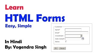 HOW TO CREATE HTML FORMS TUTORIAL - HINDI