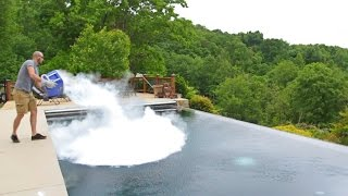 What Happens If You Drop 30 lb of Dry Ice in POOL thumbnail