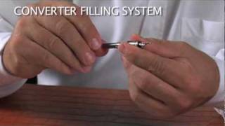 How to fill a cartridge or converter fountain pen