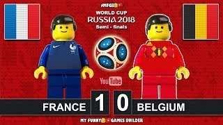 World Cup 2018 Semi-finals • France vs Belgium 1-0 • (10/07/2018) All Goals Highlights Lego Football