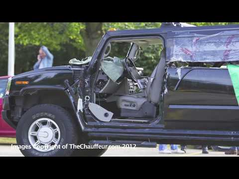 Hummer H2 and Range Rover Limos crashed and destroyed Photographs
