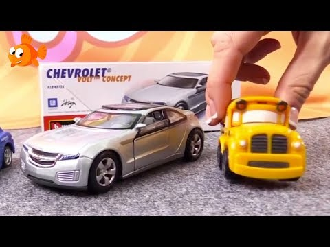 Thumbnail: Electric CHEVROLET Bburago DEMO - Toy Car Cartoons for Children.Bussy & Speedy.Toy Cars for Children