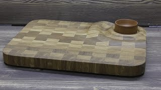 3D доска для суши    making a 3D end cutting Board for sushi