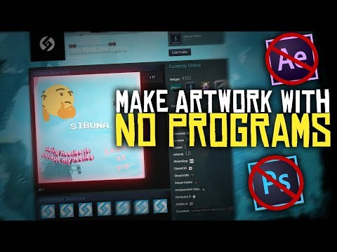MAKE AN ARTWORK SHOWCASE WITH NO PROGRAMS! (ONLINE and FREE)