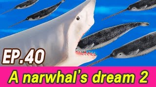 [EN] A narwhal's dream story 2 (Spotted Seal, blue whale, great white shark) collecta [cocostoy]
