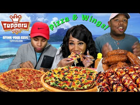 Toppers Pizza and Wings Mukbang with the boys