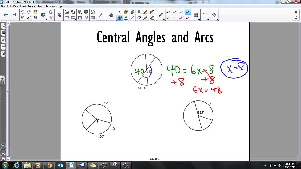 GSE Geometry Central and Inscribed Angles-Arcs