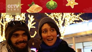 Foreigners in Beijing send their love back home on Christmas!