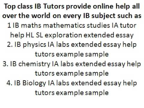 Ib Physics Ia Commentary Extended Essay Help Tutor Example Sample