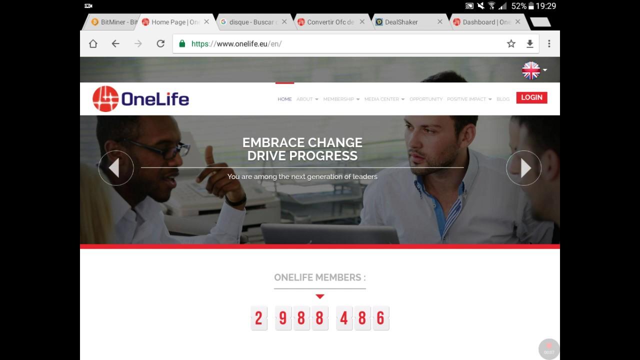Convertir OneCoin a OFC desde tu cuenta de OneLife.
