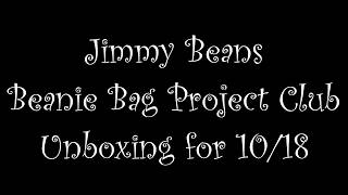 Jimmy Beans Beanie Bag Project Club Unboxing  *SPOILER*