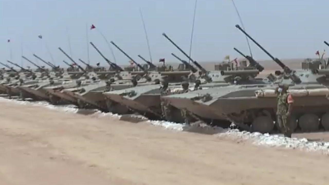 مناورات للجيش الجزائري بالرمايات الحقيقية للواء 41 مدرع بالناحية العسكرية الرابعة