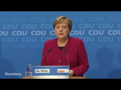 Merkel Says She Won't Seek Re-Election as CDU Leader