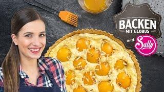 Mandel-Marzipan-Tarte mit Aprikosen   Backen mit Globus & Sallys Welt #7