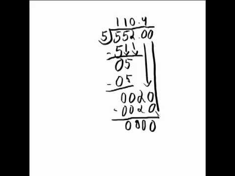 Number Names Worksheets : long division with decimal remainders ...