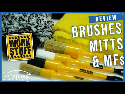Work Stuff Product Review - Mitts, Brushes and Microfibres