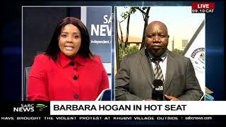 Barbara Hogan in hot seat