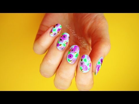 Bold Floral Nails for Spring! [No Tool Nail Art]