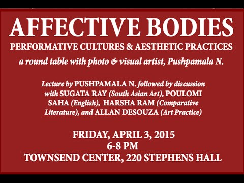 Affective Bodies - Performative Cultures and Aesthetic Practices: A Round Table with Pushpamala N