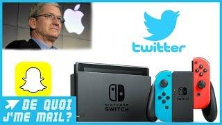 Nintendo, Apple, Snapchat et Twitter font l'actu cette semaine DQJMM (1/2)