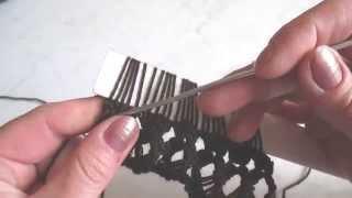 Вязание на линейке (убавление, прибавление петель). Knitting on the line (decrease, adding loops).