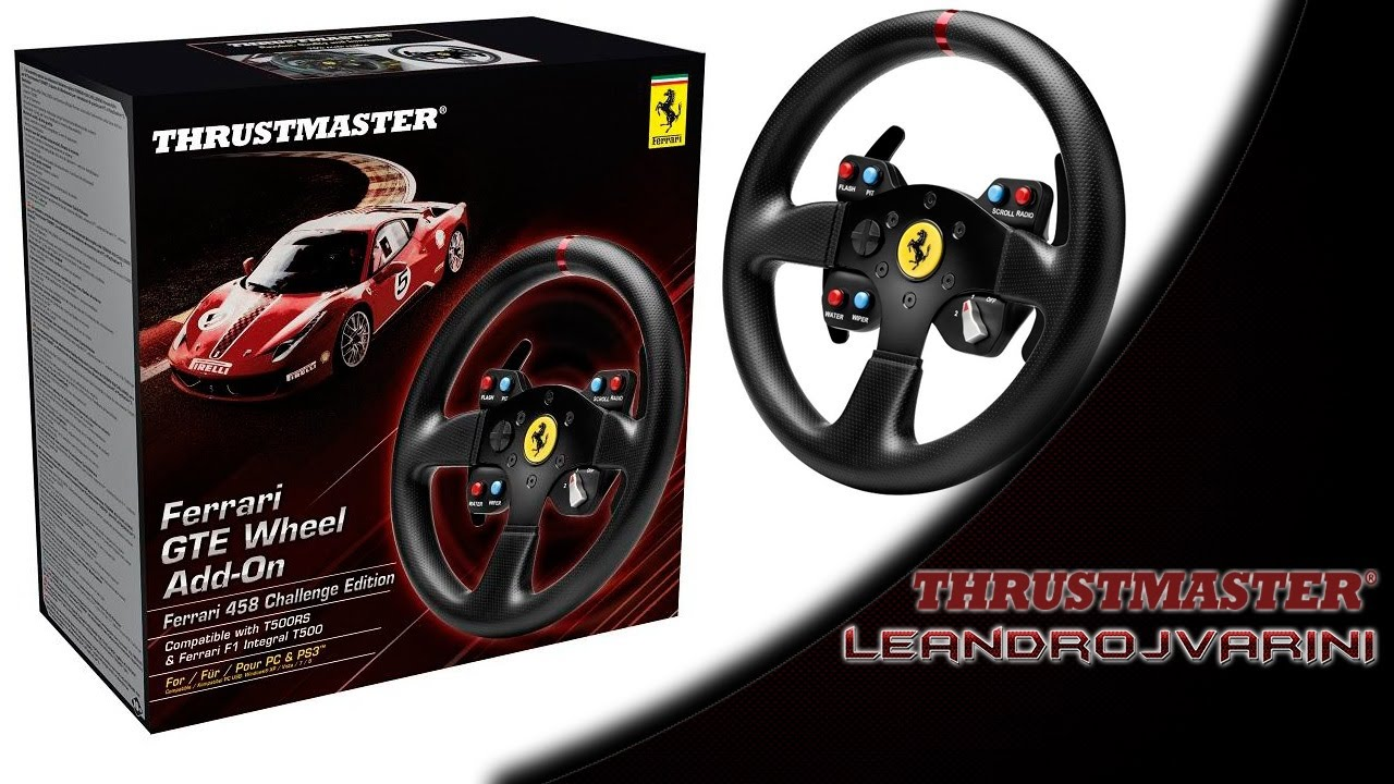 thrustmaster t500rs ferrari 458 challenge edition gte. Black Bedroom Furniture Sets. Home Design Ideas