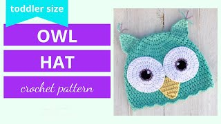 owl earflap hat handmade owl hat for children. child 1 to 3years Snowy owl crochet hat