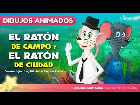 El Ratón de Campo y el Ratón de Ciudad fábula   Cuentos infantiles para dormir & animados