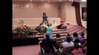 "MORTICIA FARLEY AND KATHY PARKS PRAISE DANCE TO ""I CHOOSE TO WORSHIP"" BY WESS MORGAN"