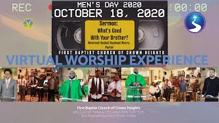 October 18, 2020: Virtual Worship Service: Men's Day 2020