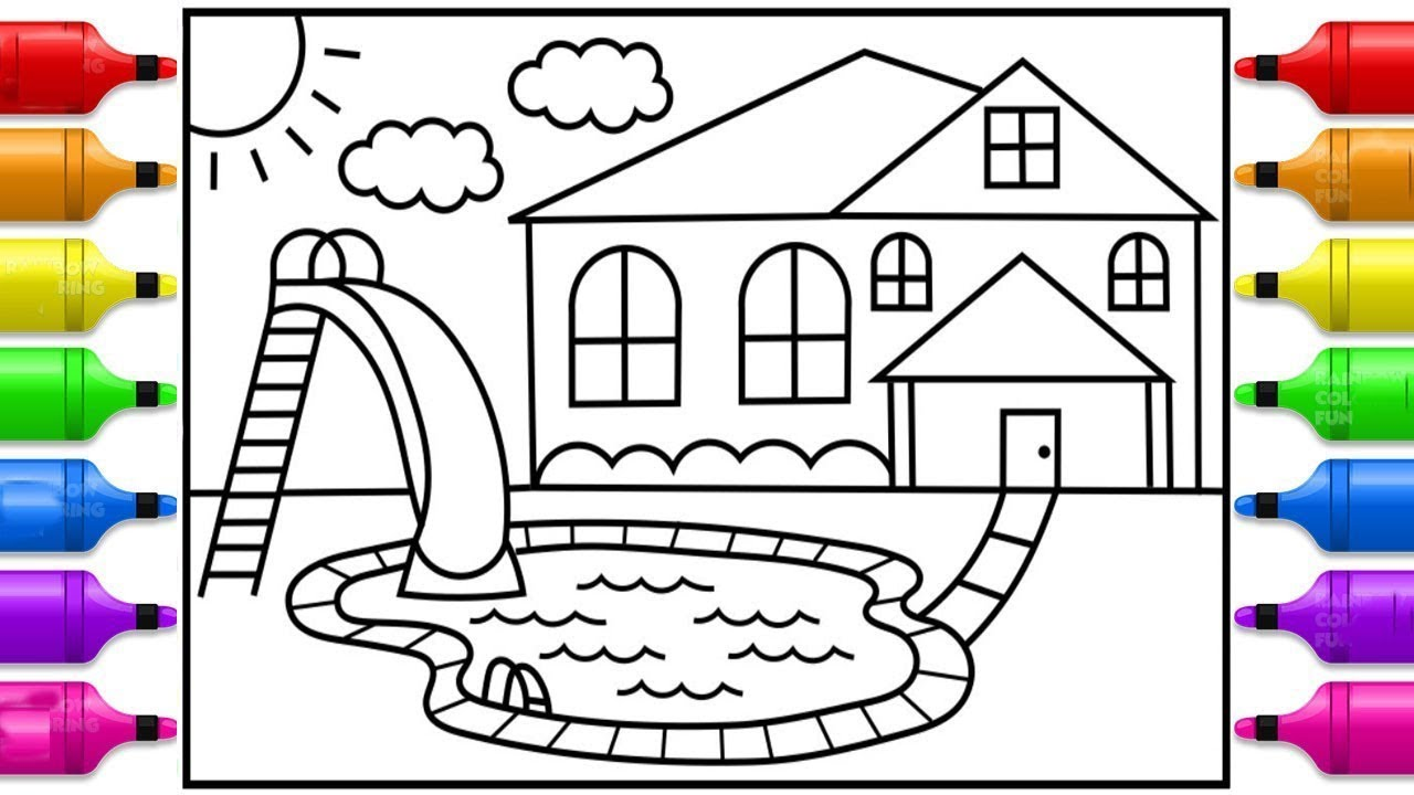 How to draw a swimming pool for Pool design drawings